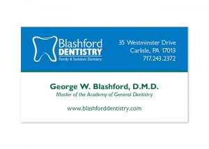 Blashford Dentistry Business Card Design Front