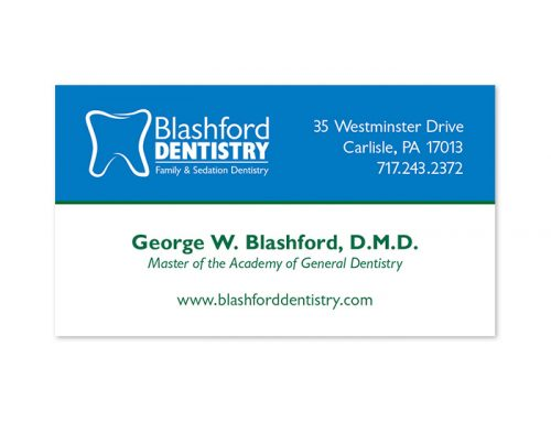 Blashford Dentistry Business Card Design