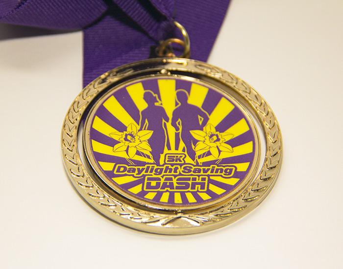 Daylight Saving Dash Medal Design