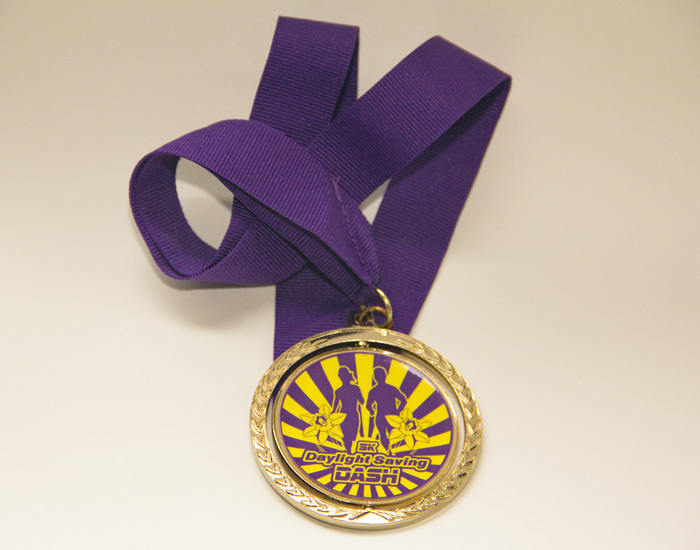 Daylight Saving Dash Medal Design