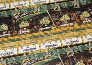 George Mason Season Ticket Sheet Design