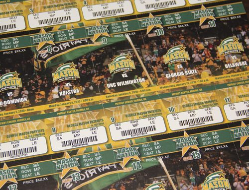 George Mason University Basketball Season Ticket Design