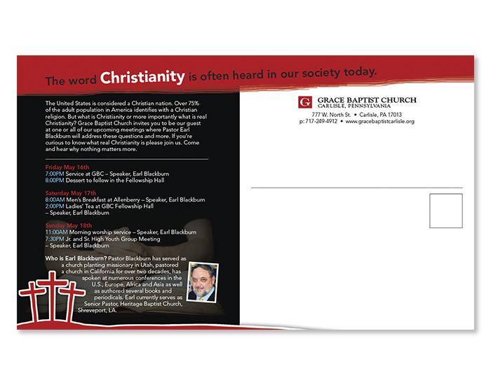 Grace Baptist Church Evangelical Postcard