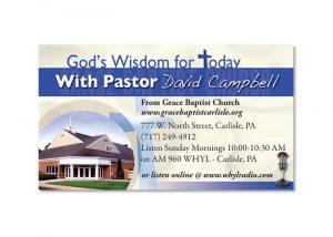 God's Wisdom for Today Radio Program Business Card