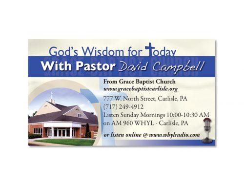 God's Wisdom for Today Business Card Design
