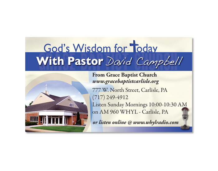 God's Wisdom for Today Radio Program Business Card