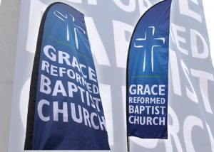 Grace Reformed Baptist Church large outdoor flag