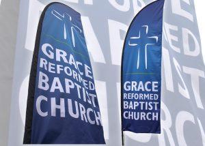 Grace Reformed Baptist Church large outdoor flag