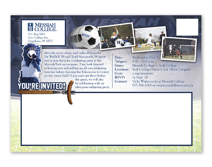 Messiah Soccer postcard design back
