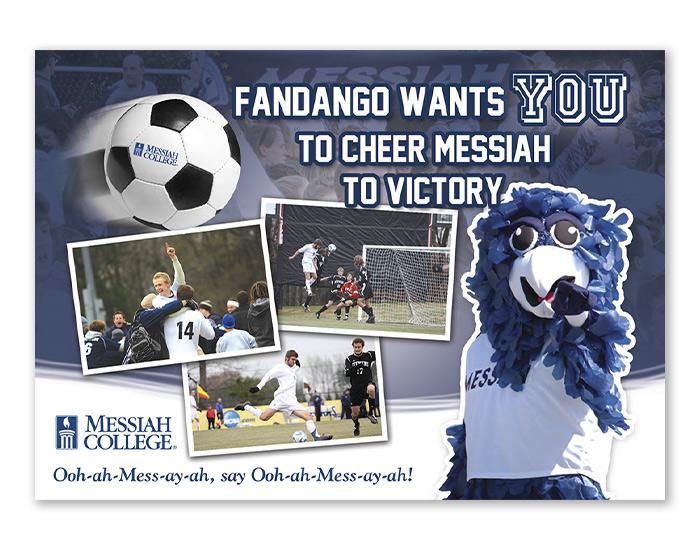 Messiah Soccer postcard design front