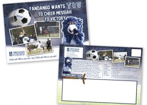 Messiah Soccer postcard design