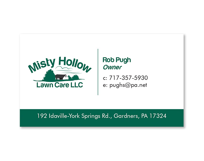 Misty Hollow Business Card Design
