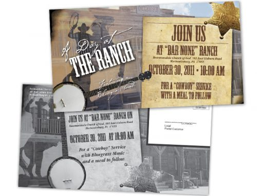 Day at the Ranch Postcard Design