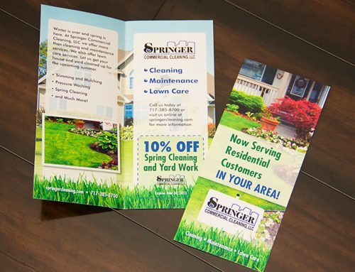 Springer Cleaning Bi-fold Brochure Mailer