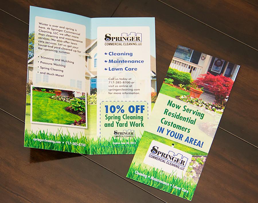 Springer Commercial Cleaning bi-fold Mailer