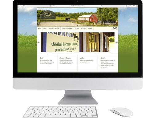 Deerfield Farm Dressage Website Design