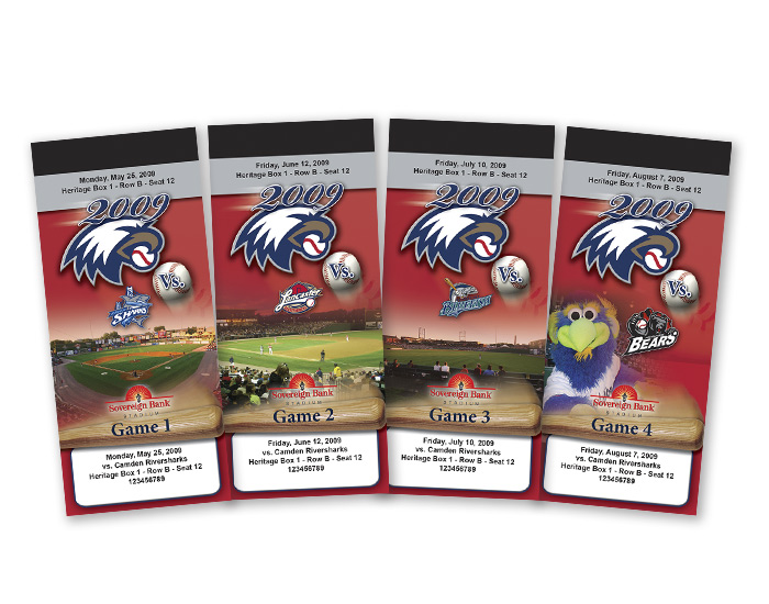 York Revolution Heritage Box Ticket Designs