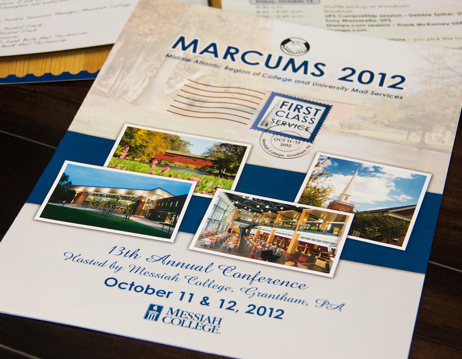 Messiah College MARCUMS 2012 brochure print design