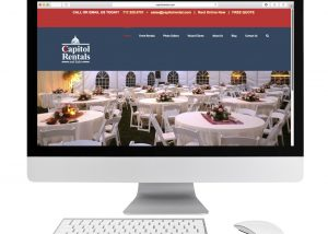 Capitol Rentals website example