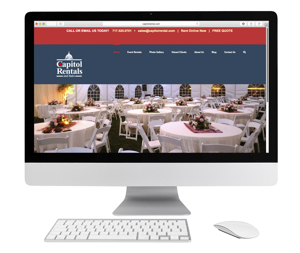 Capitol Rentals website example